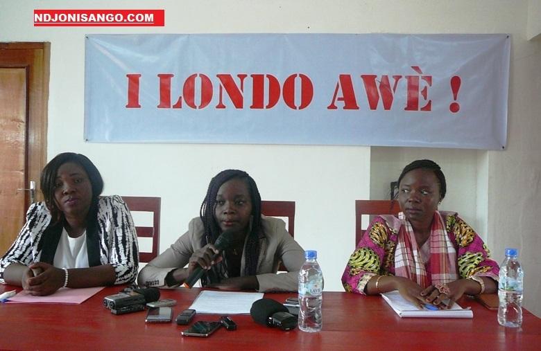 Femmes leaders de la société civile I Londo Awë lors d'une conférence de presse à Bangui @photo Kizer Maïdou