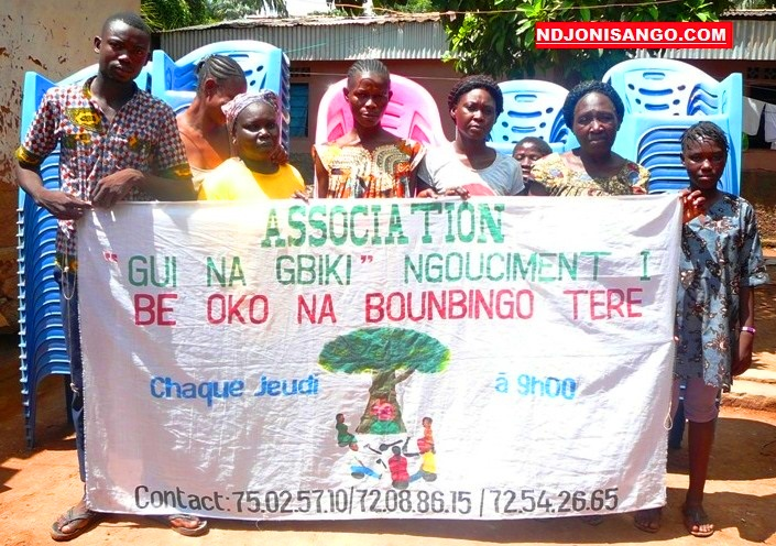 quelques membres de l'association Gui na Gbiki@photo Kizer Maîdou
