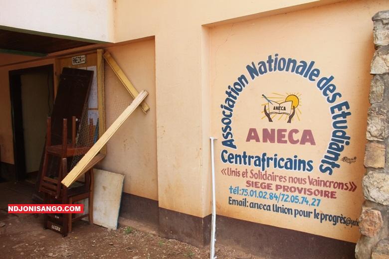 SIège du bureau de l'ANECA en état de vandalisme @photo Erick Ngaba