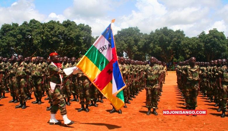 Une partie de 1023 FACA formés à Bouar et au Camp Kassaï par la mission européenne EUTM@photo Cyrille Yapendé