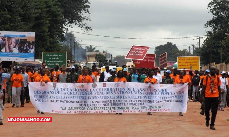 marche pacifique de la jeunesse pour un avenir radieux