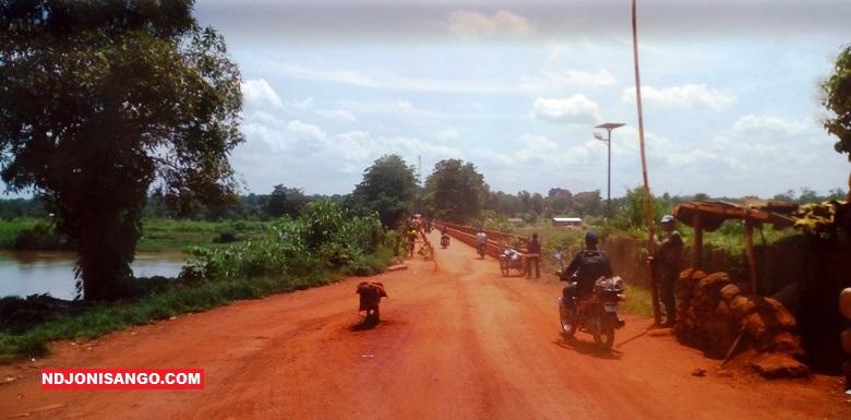la traversée du pont Ouaka à Bambari en juin 2019@photo Erick Ngaba