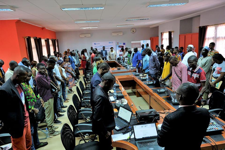 Une vue des participants au 4è édition du café média