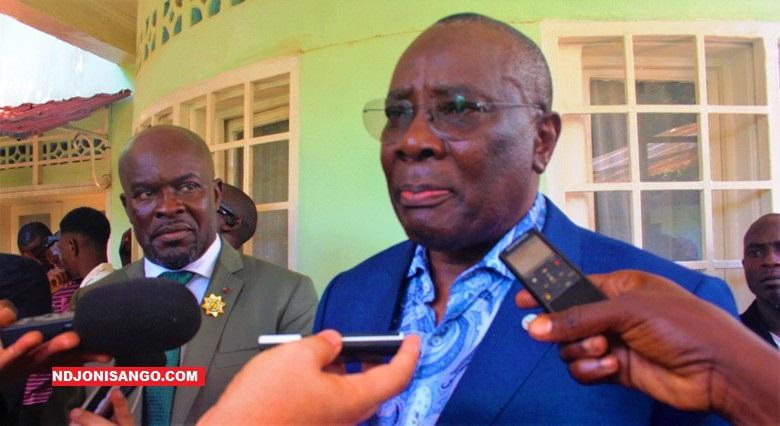 Abdou Karim Meckassoua, ancien président déstitué de l'Assemblée Nationale et l'opposant politique@photo Cyrille Yapendé