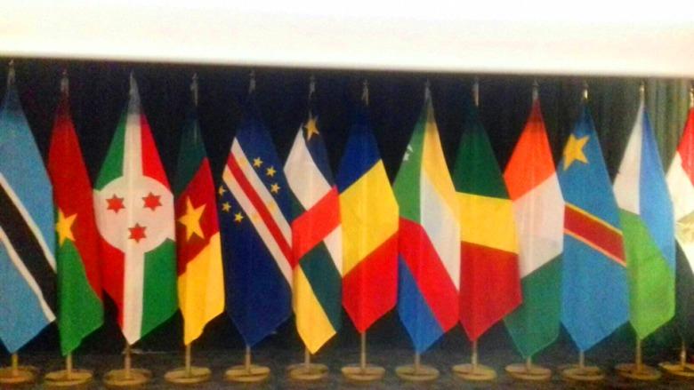 Des couleurs des Etats africains dont de la RCA au forum des femmes pour le changement à Juanesburg@photo Marina Moulougnatho