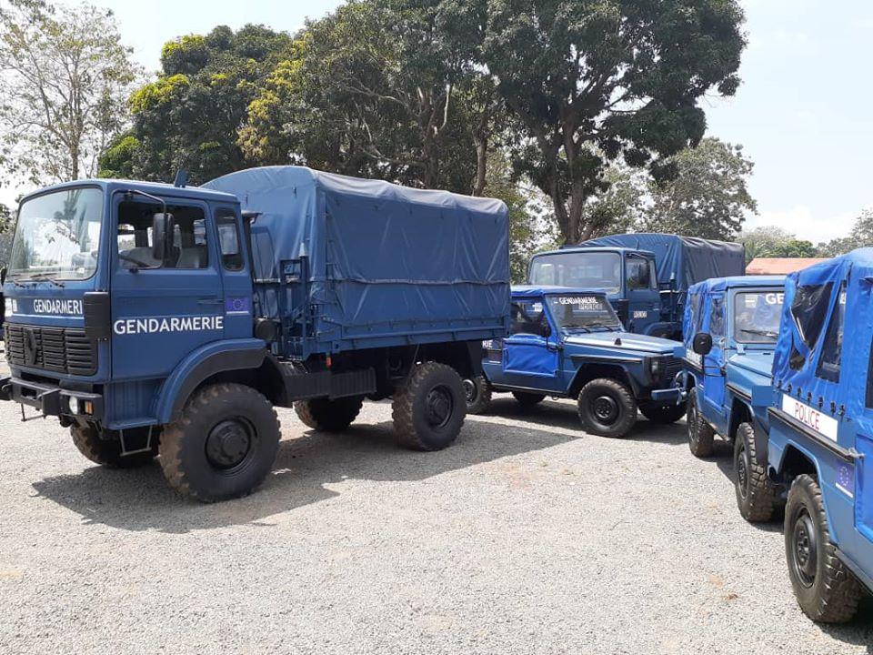 Des véhicules remis à la FSI@photo facebook UE RCA