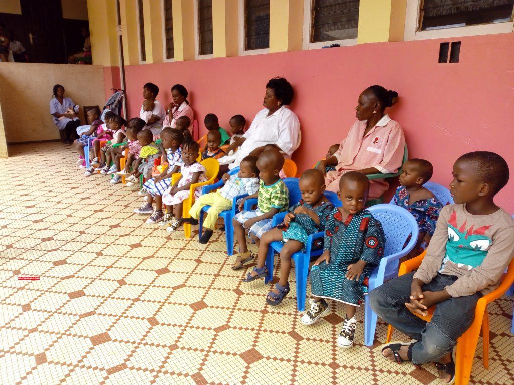Les enfants du centre de la mère et de l'enfant à Bangui@photo Erick Ngaba