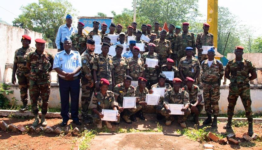 Les éléments des FACA et gendarmes formés au camps Kassaï par EUTM-RCA@photo EUTM
