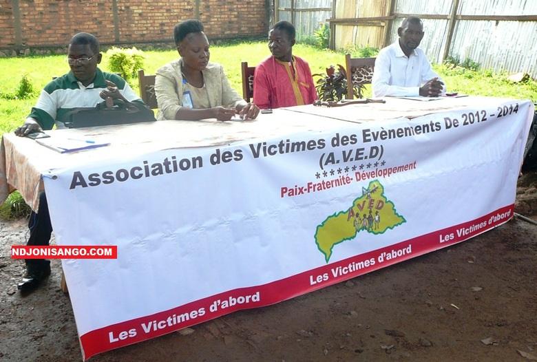 Les responsables de l'association des victimes de conflits AVED@photo Kizer Maïdou