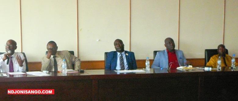 Un panel des philosophe centrafricains lors de la célébration de la journée mondiale de la philosophie @photo Dieudonné ZEKE