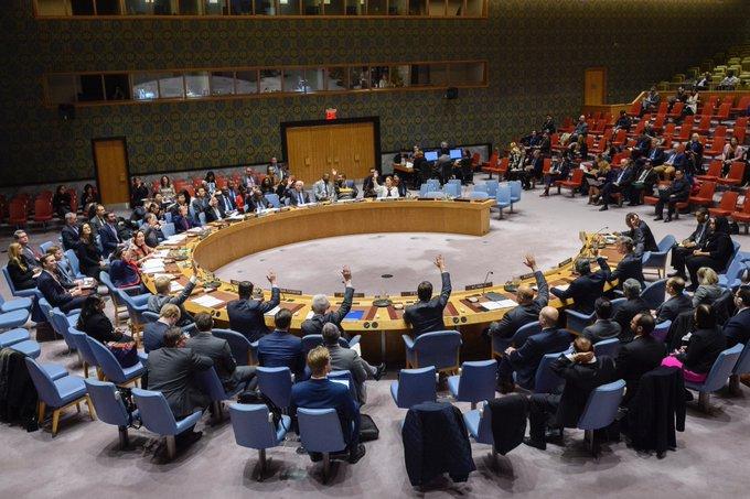Vote du mandat de la Minusca au Conseil de Sécurité@photo twwitter Minusca