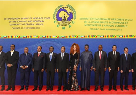 Les chefs de l'Etat des pays de la CEMAC - Franc CFA - Yaoundé