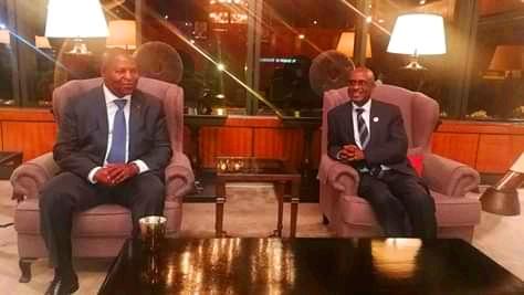 Arrivée du président Touadera à Nairobi