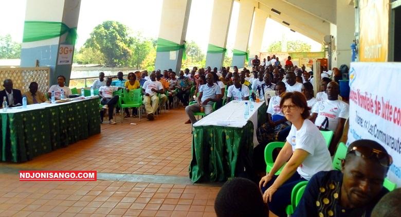 Aperçu de la célébration de la journée de lutte contre le SIDA par MSF au stade 20.000 places de Bangui@photo Erick Ngaba