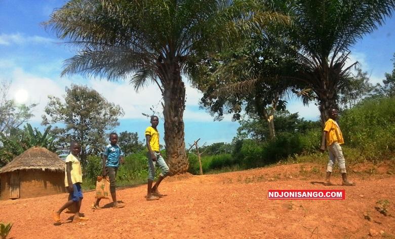 Les enfants du village Gbokolobo@photo Fiacre Salabé