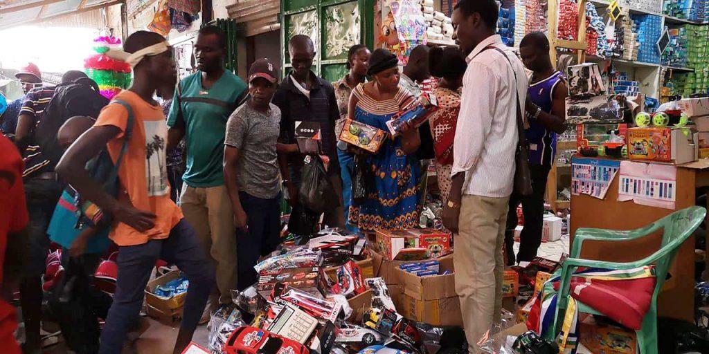 Marché de jouets au PK5 à Bangui@photo Diaspora