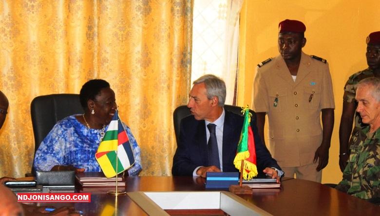 Signature de la coopération militaire entre la RCA et le Portural à Bangui@photo Erick Ngaba