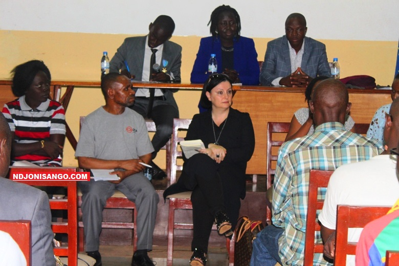Une vue des participants à l'atélier sur start-up à l'Alliance française de Bangui@photo Marly Pala