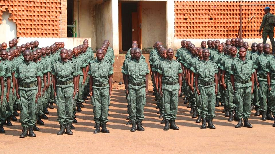 Sortie officielle des soldats FACA de GSPR au camp de Roux@photo la Renaissance