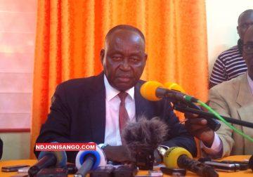 François Bozizé en conférence de presse au siège de son parti le KNK@photo Cyrille Yapendé
