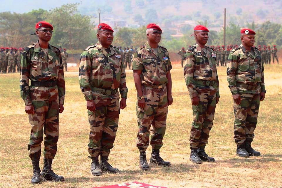 Des Généraux des forces armées centrafricaines FACA valorisés par le président Touadera
