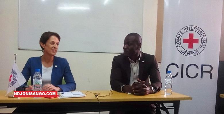 Cheffe de la délégation du CICR à Bangui, Valérie Petitpierre@photo Marly Pala