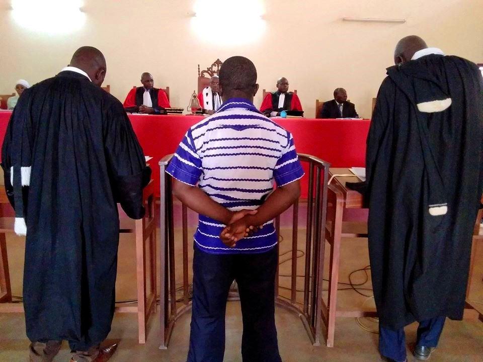 Procès du caporal chef Achille Désiré Le Grand Yamanza à la Cour Criminelle de Bangui@ photo La Joyce image