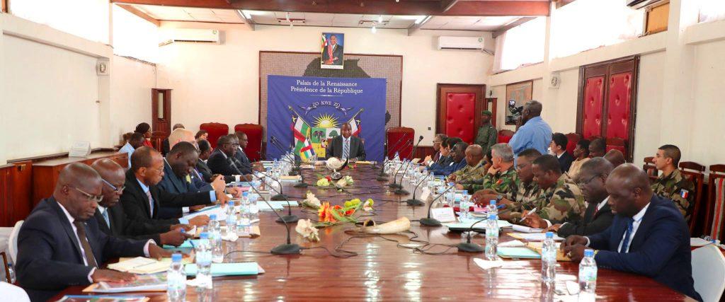 Réunion du comité stratégique de la mise en oeuvre du DDRR présidé par le président Touadera