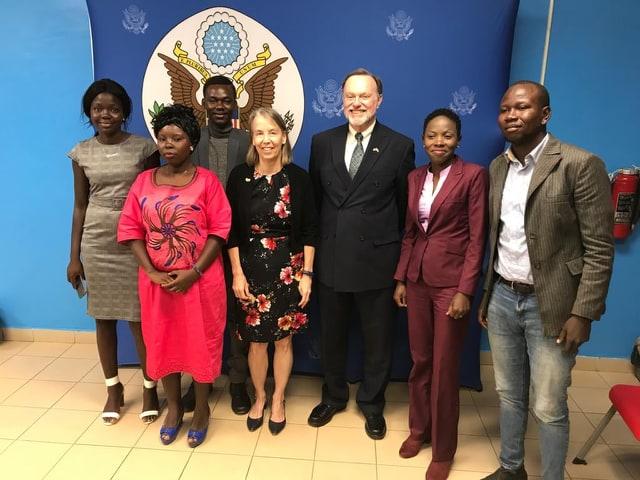 Rencontre-du-sous-secrétaire-des-USA-aux-affaires-africaines-Tynor-Nagy-avec-les-blogueurs-centrafricains@photo-facebook-Rosmon-Zokoué