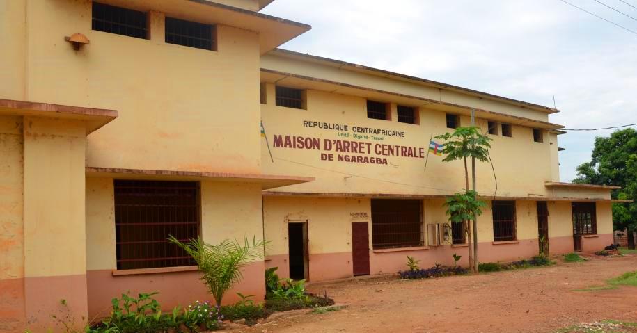 maison d'arrêt de Ngaragba à Bangui