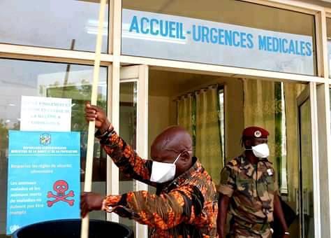 Centre d'isolement des patients du Coronavirus à l'hôpital de l'Amitié de Bangui