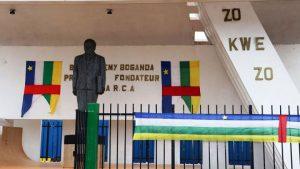 Monument à Bangui de Barthélémy Boganda, père de l'indépendance de la République centrafricaine